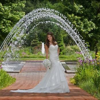 Bridal Portrait - Daniel Stowe Botanical Garden