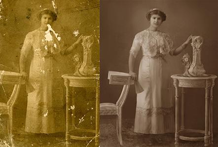 Restoration of old photo