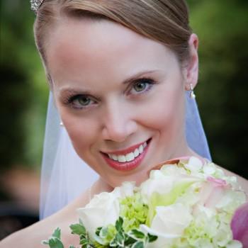 Bride at Daniel Stowe Botanical Garden