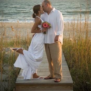 Beach Wedding at Bald Head Island