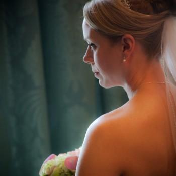 Bride at Daniel Stowe Botanical Garden in Belmont NC