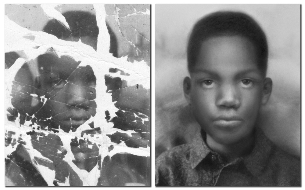 We Copy & Restore Old or Damaged Images | Lem Lynch ... Old Damaged Black And White Photos