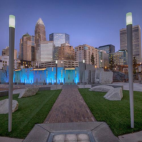 Outdoor Light Fixtures - Downtown Charlotte
