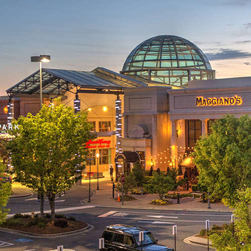 Mall Exterior at Sunset